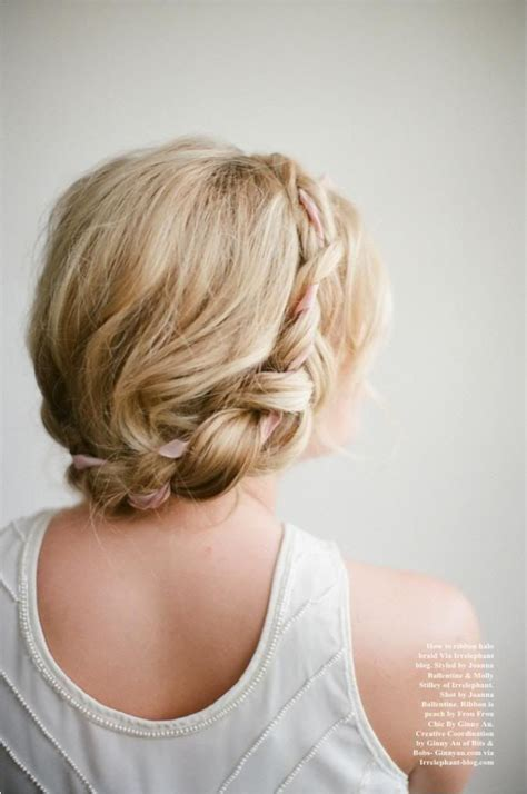 Wedding Hairstyles Ribbon by Picture Of And Bridal Ribbon Updos