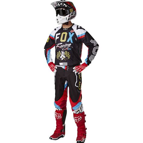 motocross fox gear fox racing 2017 mx 360 rohr black gold jersey
