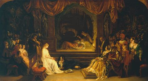 painting to play the play in hamlet daniel maclise tate