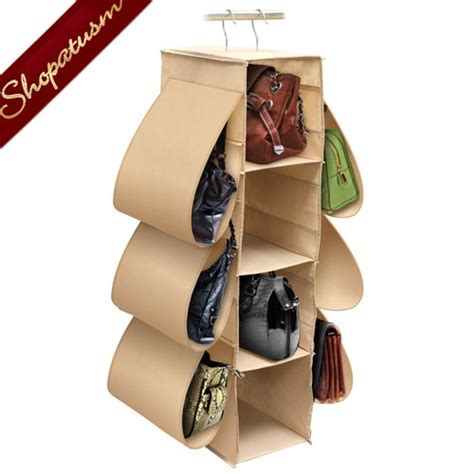Hang Purses In Closet by Hanging Handbag Closet Dust Free Purse Storage Organizer
