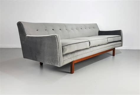 floating sofa floating mid century modern sofa by jens risom 1950s at