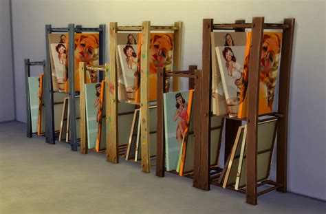 Artwork Storage Rack by Sims 4 Pin Up Painting Canvas Storage Rack By