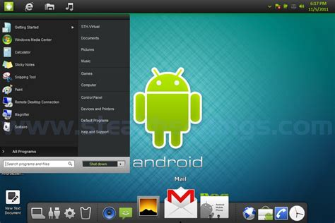 android for windows transform windows 7 in android android themes skins transformation pack stealth settings