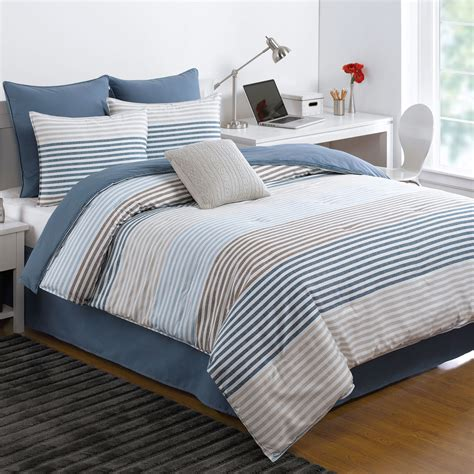 izod chambray stripe comforter bedding