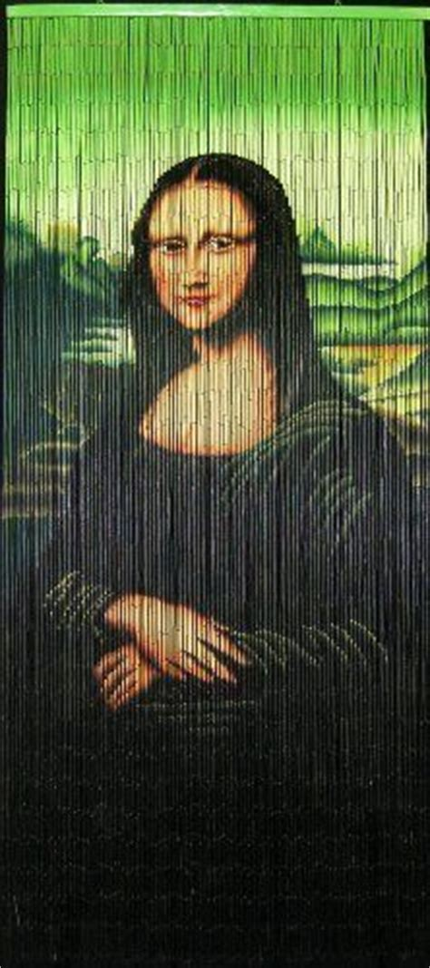 Beaded Curtains Bamboo Curtains And Mona Lisa On Pinterest