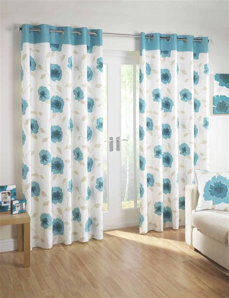 teal blue curtains bedrooms poppy eyelet curtains by rectella