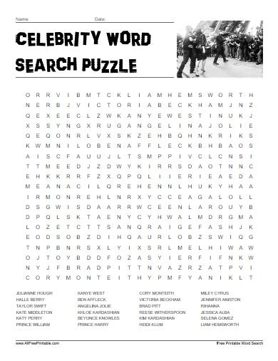printable easy celebrity crossword puzzles word search printable 2016 calendar template 2016