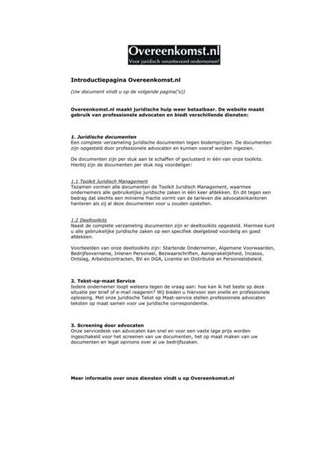 Letter Of Intent Voorbeeld Voorbeeld Overeenkomst Letter Of Intent Intentieovereenkomst Inzake Overname Onderneming