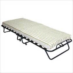 Cot Size Bed Frame Folding Cot Roll Away Bed With 4 Inch Foam Mattress
