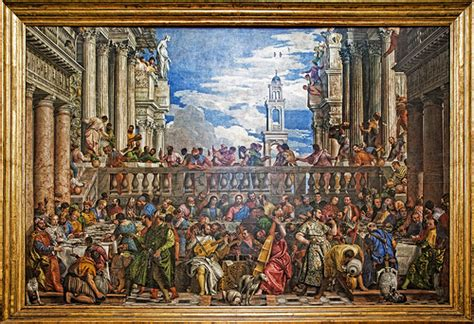 Wedding Of Cana Louvre by The Marriage At Cana The Largest Painting In The Louvre