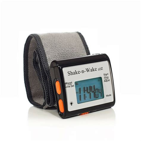 silent vibrating alarm clock personal shake n wrist digital led black 600141461489 ebay