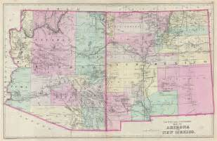 county and township map of arizona and new mexico