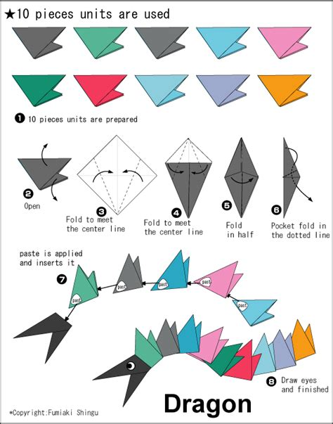 Origami Dragonfly Step By Step - origami a easy origami