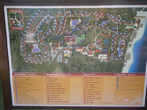 eco resort map stop at the resort picture of sandos caracol eco