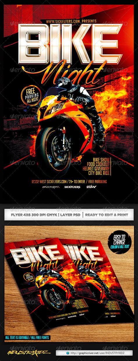 Bike Night Flyer Template Events Flyers Free Motorcycle Ride Flyer Template