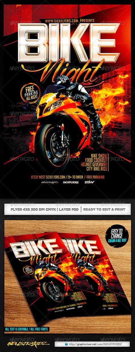 Bike Night Flyer Template Events Flyers Bike Flyer Template Free