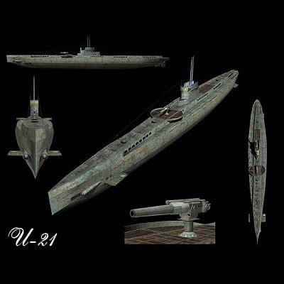 u21 boat stl finder 3d models for submarine u 21 ww1 u boat