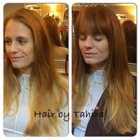 bangs before and after before and after bangs and more depth color and cut by