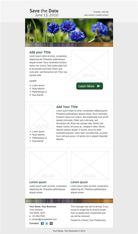 save the date email template by creekjumper themeforest