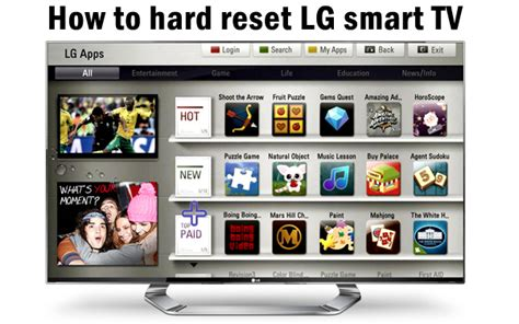 how to hard factory reset a vizio smart tv how to hard reset lg smart tv to factory settings