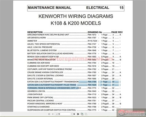 kenworth wiring diagrams t800 kenworth free engine image