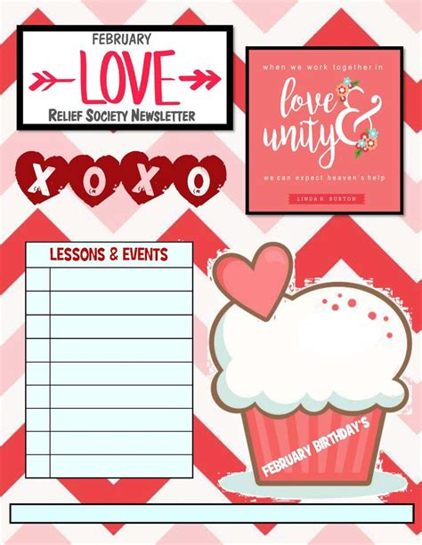 february newsletter template 17 best templates relief society newsletter images on pinterest relief society newsletter