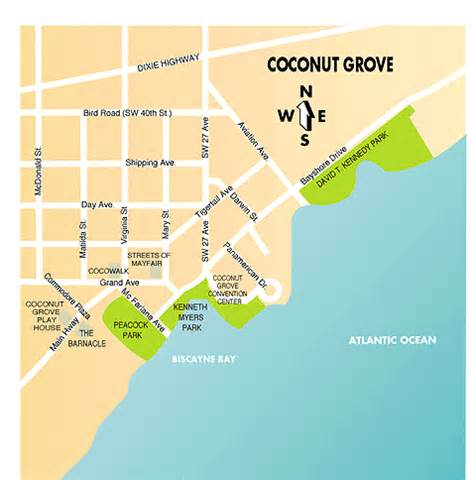 grove map coconut grove map