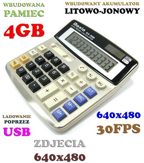 Kamera Tersembunyi Bentuk Kalkulator 4gb kalkulator szpiegowski ukryta kamera aparat 4gb 5993295246 allegro pl więcej niż aukcje