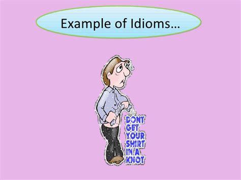 exle of idiom idioms