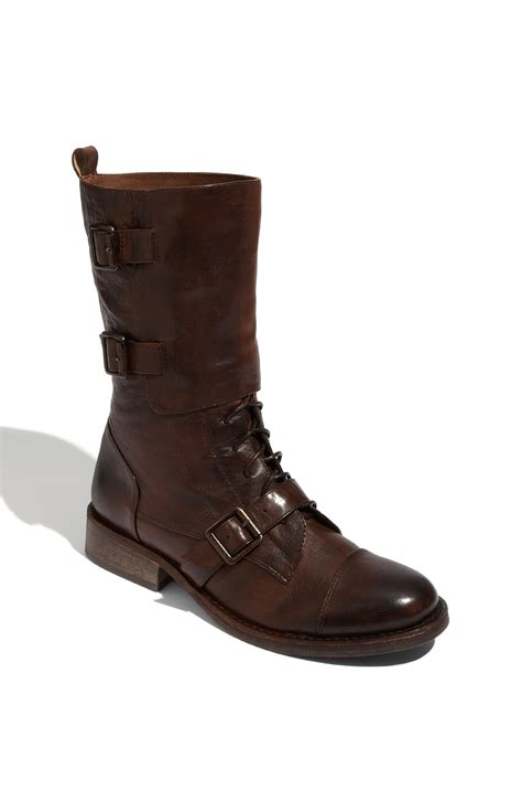 vince camuto boots vince camuto fergus buckled leather boots in brown