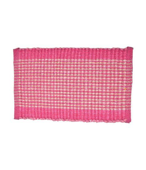 Pink Floor Mat by Handblooms Pink Cotton Floor Mat Buy Handblooms Pink