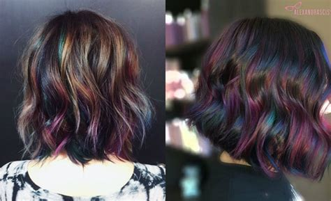 hair color of 2017 admiring brunettes oil slick hair colors 2017 hairdrome com