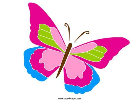 fiori disegnati e colorati farfalla immagine colorata da ritagliare tuttodisegni