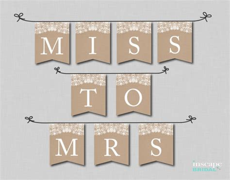 printable rustic banner rustic bridal shower banner printable burlap and lace banner