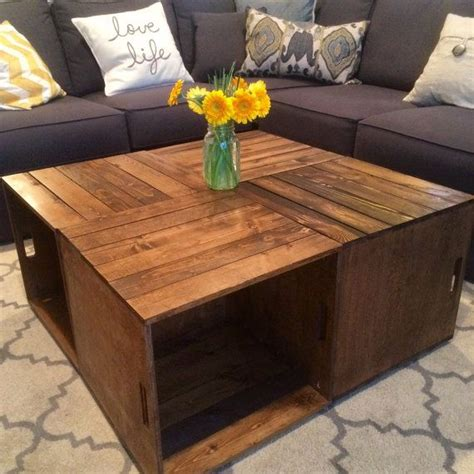 Coffee Table Made From Wooden Crates 25 Best Ideas About Crate Coffee Tables On Pinterest Wine Crate Coffee Table Crate Table And