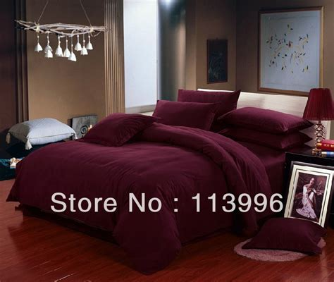 wine colored comforter sets wine red solid color thick brushed cotton bedding set