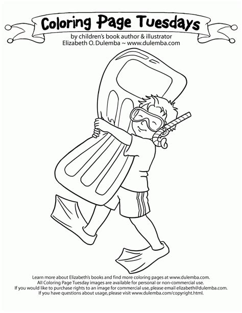 Coloring Page Tuesdays by Dulemba Coloring Page Tuesday Ready To Swim Az