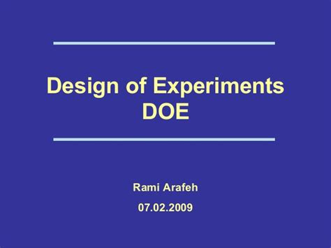 design of experiment doe was coined by 95720357 a design of experiments