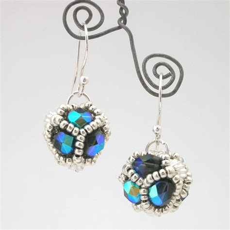 damselfly gemma beaded bead earrings tutorial