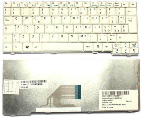 Keyboard Acer Aspire One 531 Zg5 Zg8 A110 D150 D250 White tastiera italiana per acer aspire one 531 a110 a150 d150 d250 kav10 kav60 zg5 zg8