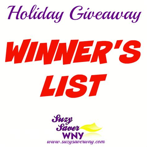 Holiday Giveaways - holiday giveaways 2016 winner s list