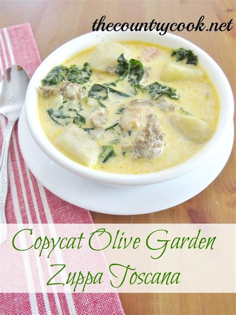 Olive Garden Zuppa Toscana Soup Recipe by Copycat Olive Garden Zuppa Toscana Olive Gardens
