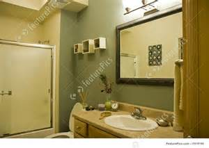 green and brown bathroom interior architecture green and brown bathroom stock