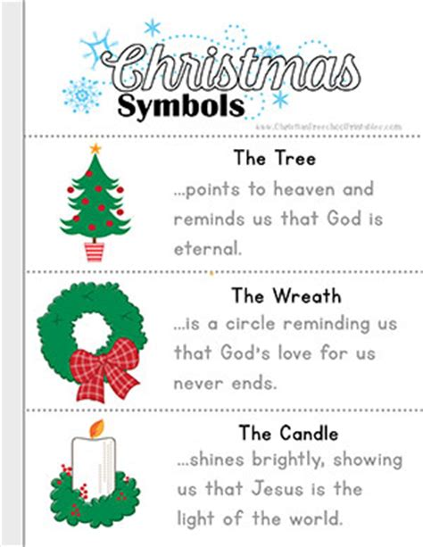 christian meaning of christmas decorations symbols of printables christian preschool printables