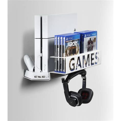 mount ps4 desk best 25 ps4 wall mount ideas on cave to