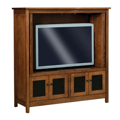 Tv Cabinet Enclosed by Amish Entertainment Centers Amish Furniture Shipshewana