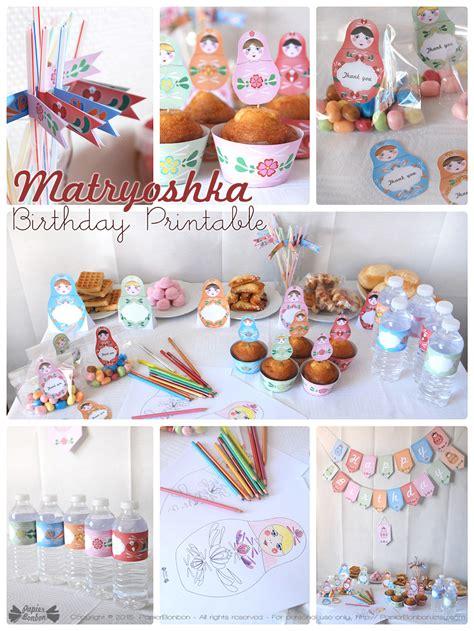 f 234 te anniversaire matriochka kit d 233 coration poup 233 es