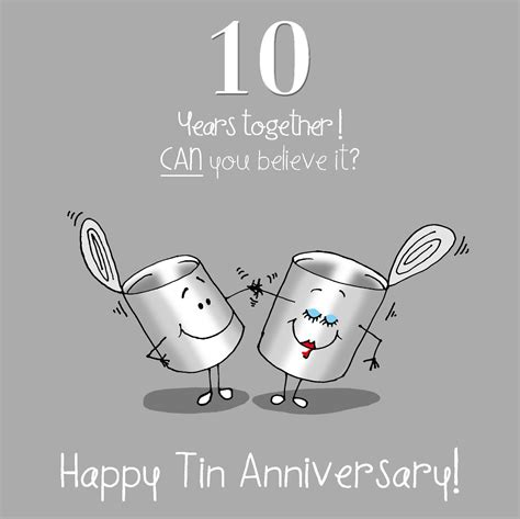 10th Wedding Anniversary Card Husband by 10th Anniversary Greetings Card Happy Tin Anniversary Ebay
