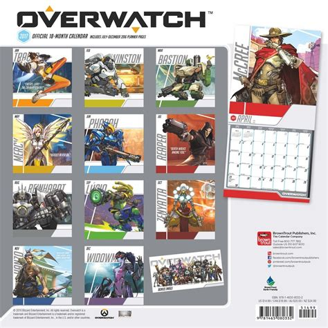 libro official overwatch 2018 wall overwatch 2017 calendar blizzplanet overwatch