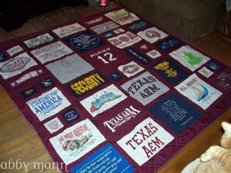 T Shirt Quilt Houston by Crafts By Abby Aggie T Shirt Quilt